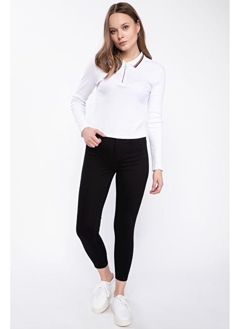 DeFacto Anna Yüksek Bel Süper Skinny  Pantolon Siyah